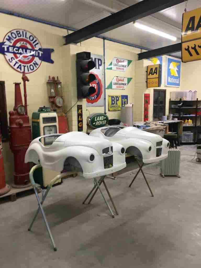 Austin J40 Pedal Cars in Workshop