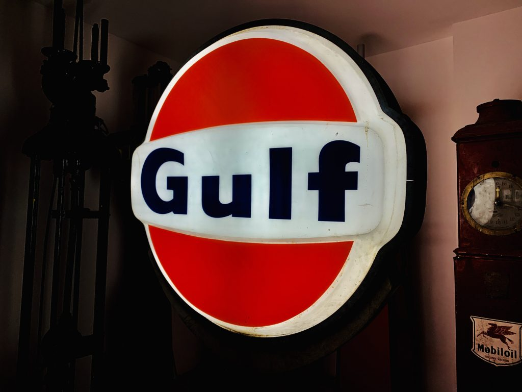 Gulf Illuminated Sign