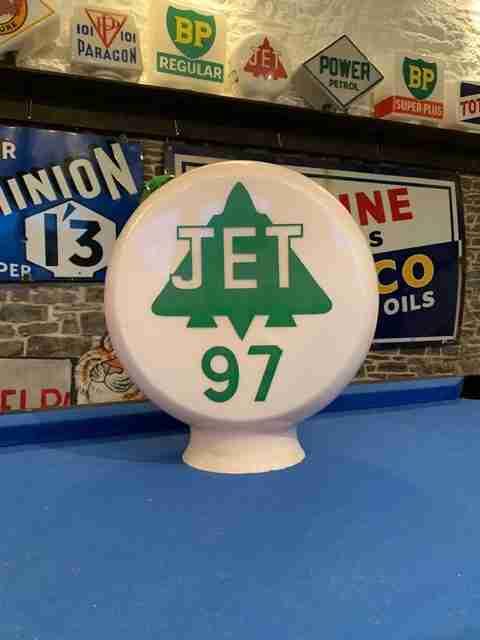 UK Restoration's Jet 97 Petrol Pump Globe