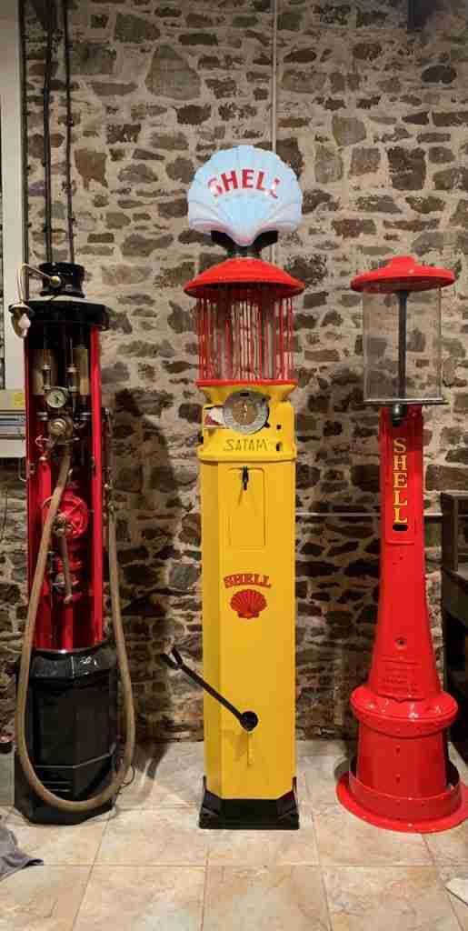 UK Restoration's Satam Birdcage Petrol Pump in Shell Livery