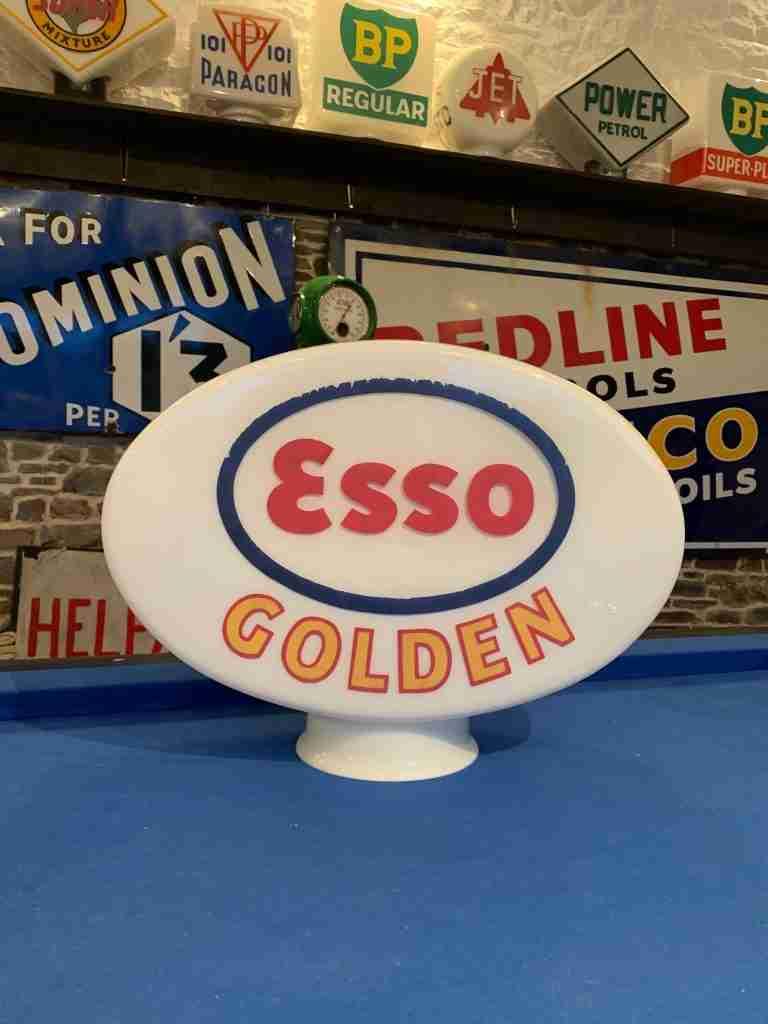 Esso Golden Vintage Petrol Pump Globe