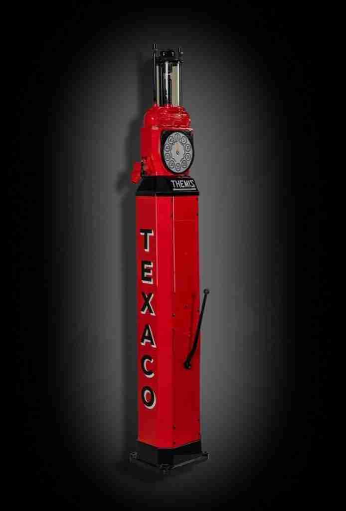 UK Restoration's Fully Restored Themis Single Cylinder Petrol Pump in Texaco Livery