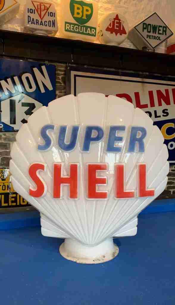 UK Restoration's White Super Shell Vintage Globe
