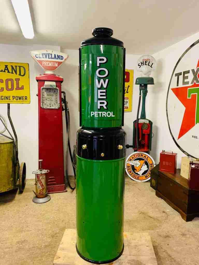 Fully Restored Glibert & Barker Model 65 Petrol Pump in Power Livery by UK Restoration