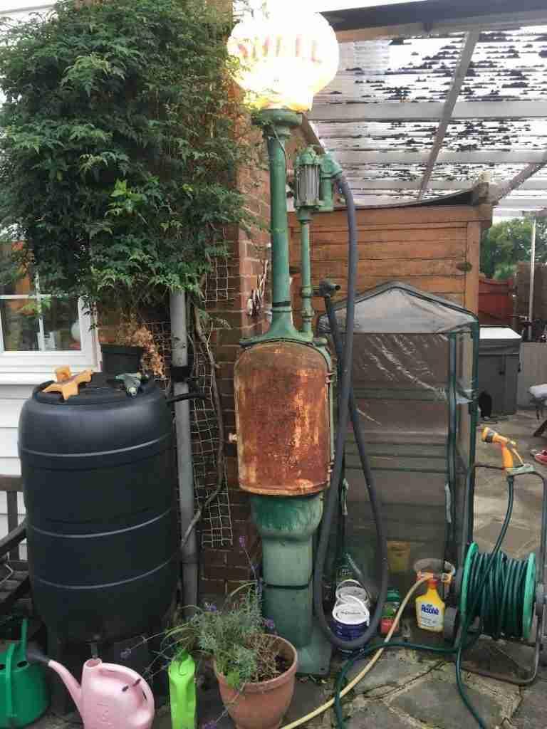 UK Restoration's T8 Fat Lady Petrol Pump Before Restoration