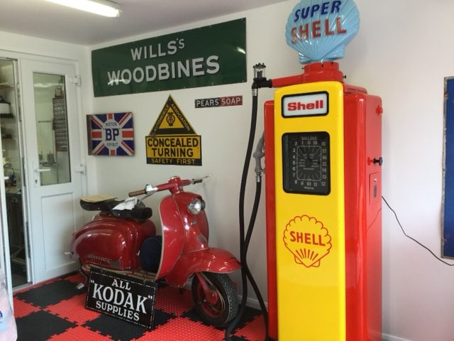 UK Restoration's Restored Wayne 70 Petrol Pump in Shell Livery