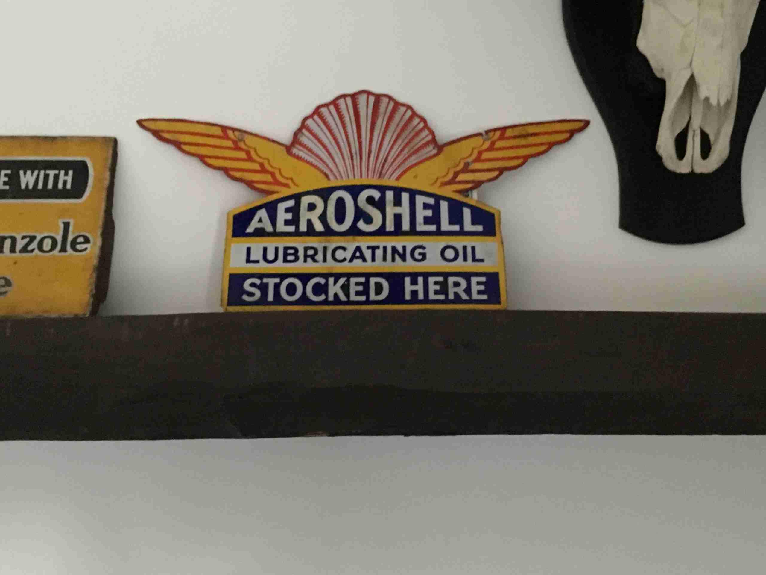 UK Restoration's Shell Aeroshell Enamel Sign